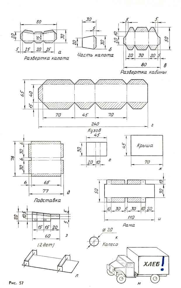 Хлебовоз, модель из бумаги