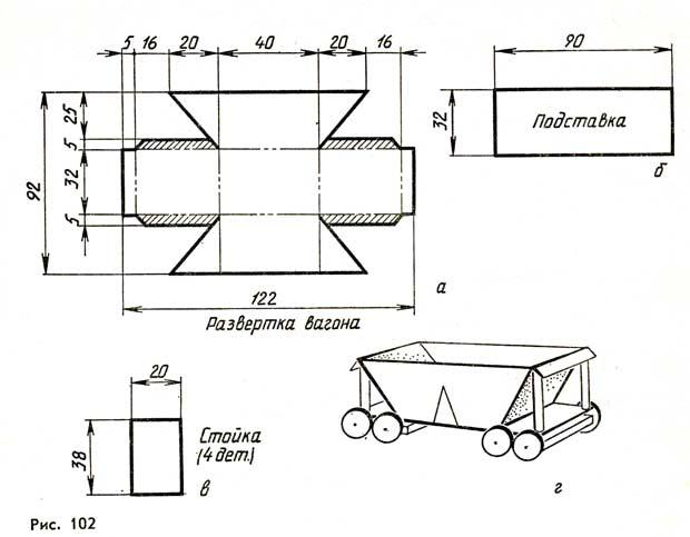 Как сделать вагон из картона своими руками 80