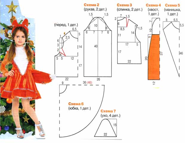 Лисичка, новогодний костюм для девочки