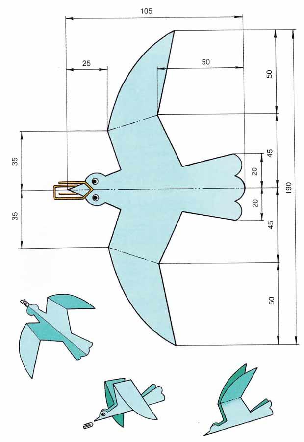 Модель планера «Голубь»