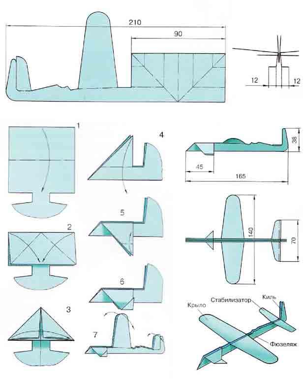 Модель планера С. Н. Анохина