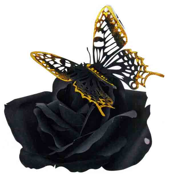 Сувенир «Бабочка на розе»