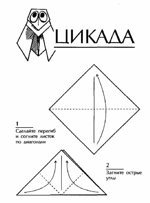 Оригами, цикада