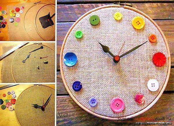 Картинки по запросу Календарь и часы из пуговиц