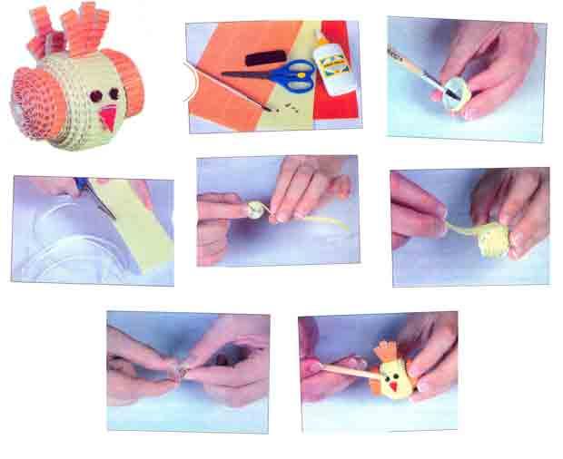 Птичка-невеличка, новогодняя игрушка на ёлку из гофрированного картона