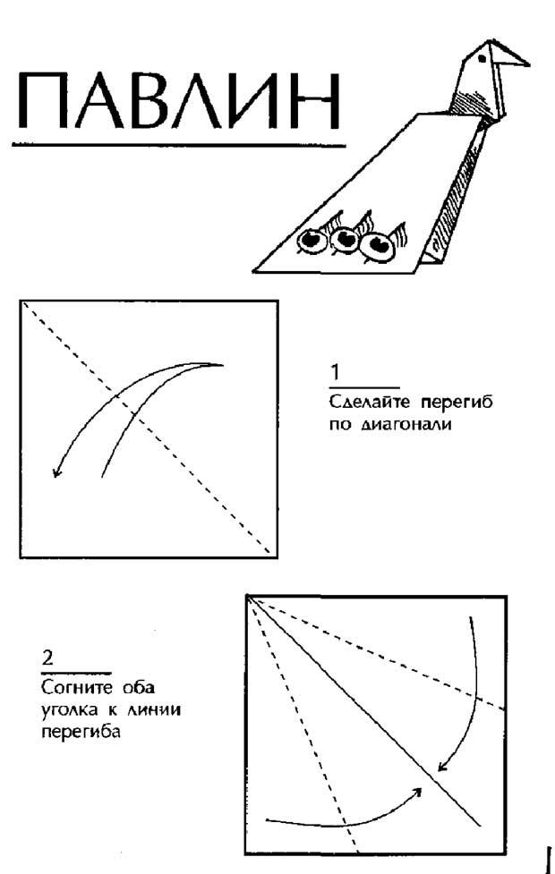Оригами, Павлин