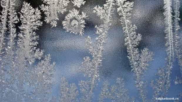 морозные окна, узоры на окне, мороз