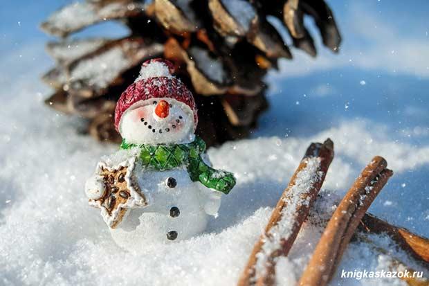 снег, снеговик