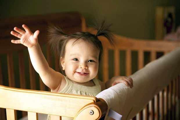 Ребёнок, девочка, проснуться, утро