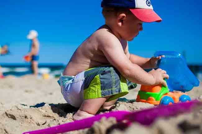 Дети, лето, море, пляж, отдых