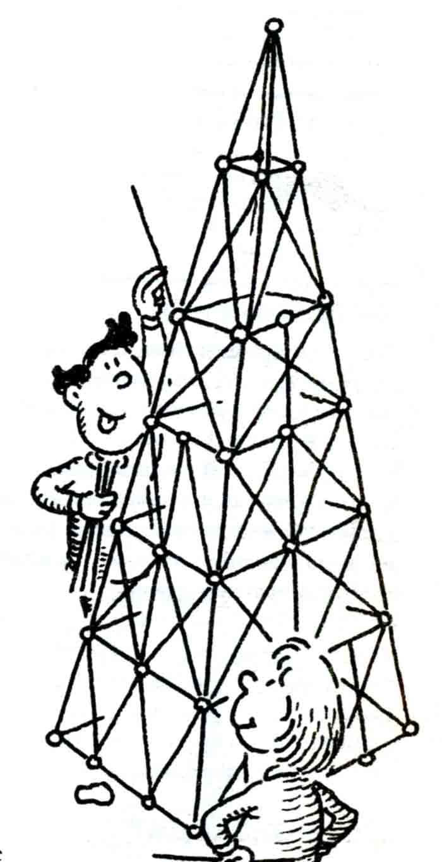 Башня из макарон