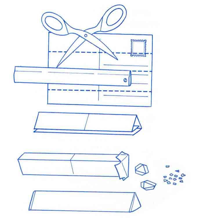 Как сделать калейдоскоп из почтовой открытки?