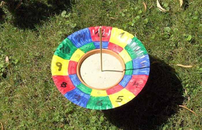Делаем солнечные часы из цветочного горшка