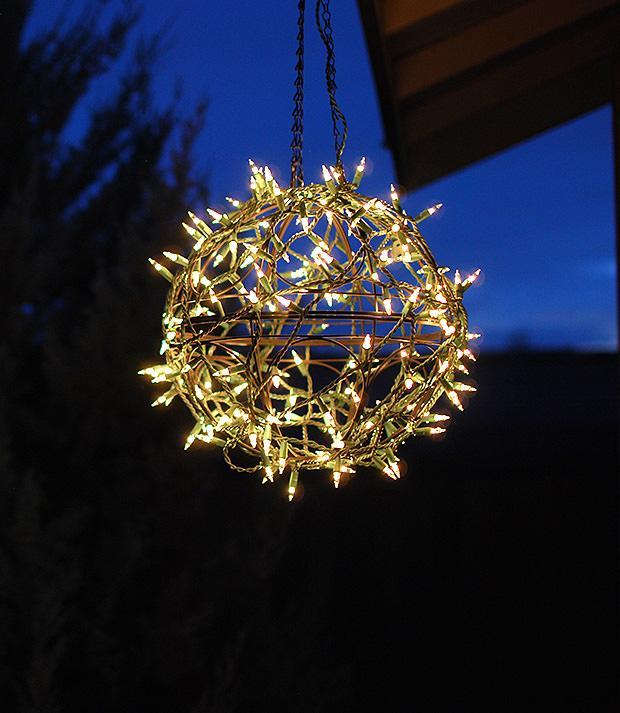 Как сделать светящийся шар к Новому году