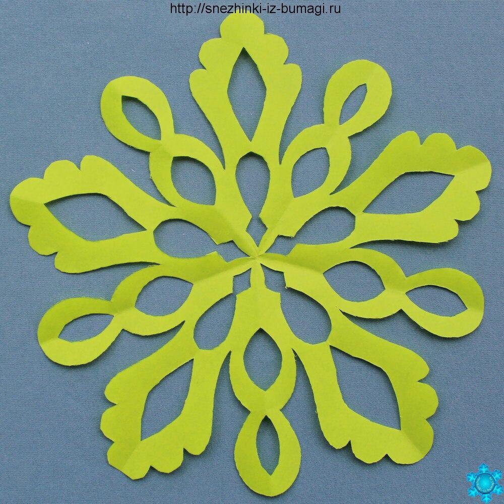 Красивые снежинки из бумаги своими руками