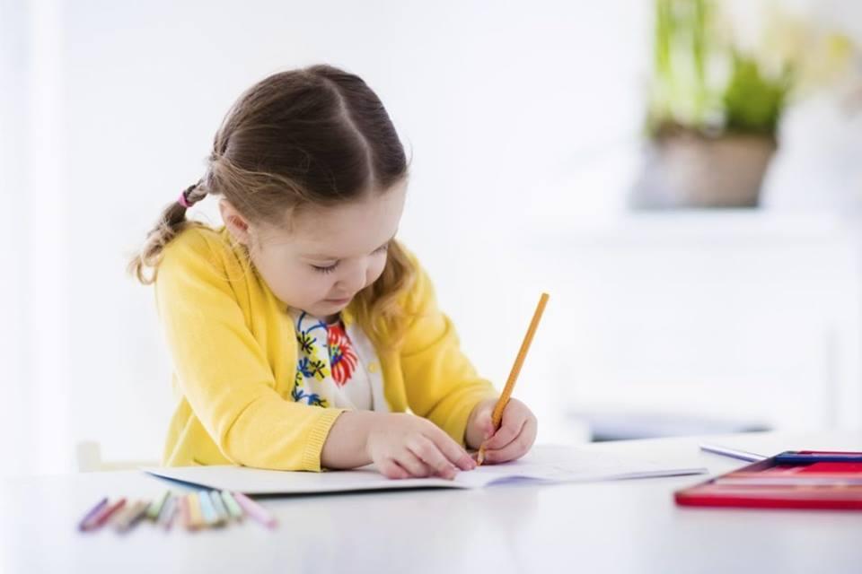 ребёнок, девочка, письмо, рисунок