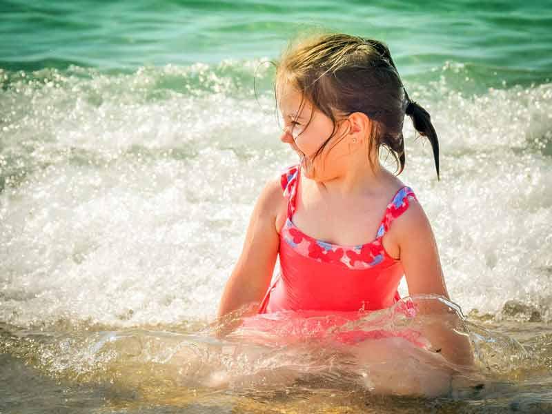 Девочка, ребёнок, море, вода