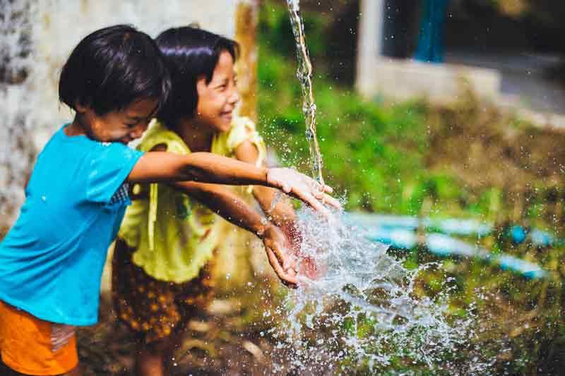 дети, вода, лето, ребёнок