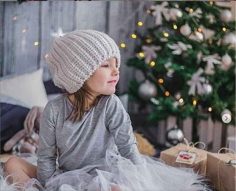 ребенок, новый год, девочка