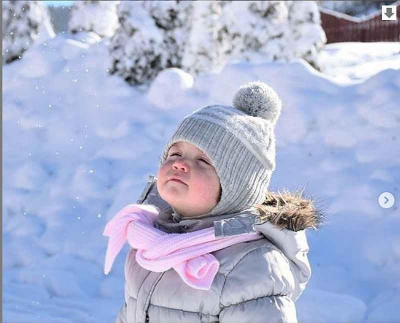 зима, спорт, прогулка, ребенок
