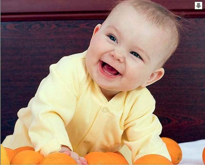 ребенок, малыш, мальчик, апельсины