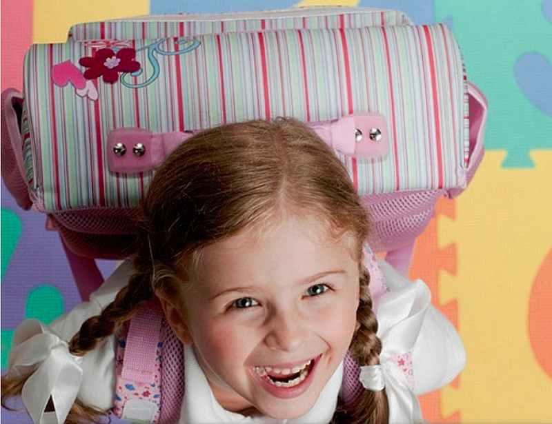 девочка, школьница, ранец, рюкзак